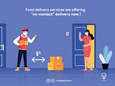 "Don't panic while getting online deliveries during pandemic situation. We are helping #GroceryIndustries to move their business online by developing an ""no-contact"" or ""contactless"" deliveries apps.  #W2SSolutions #GroceryDeliveryApp"