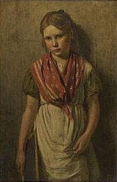Frank Bramley - Portrait of a Schoolgirl