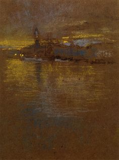 "artist-whistler: ""View across the Lagoon, James McNeill Whistler Medium: pencil"" James Abbott Mcneill Whistler, Nocturne, Landscape Art, Landscape Paintings, Landscapes, Diego Velazquez, Art Texture, Post Impressionism, Art For Art Sake"