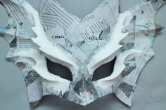 Easy Paper Mache Mask: 9 Steps (with Pictures) Easy Paper Mache Mask – Gunook Paper Mache Mask, Paper Mache Crafts, Dragon Mask, Dragon Egg, Easy Crafts, Arts And Crafts, Art Projects, Projects To Try, Dragon Costume