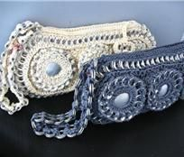 from madeitmyself.com  purse made with recycled soda pop pull tabs.