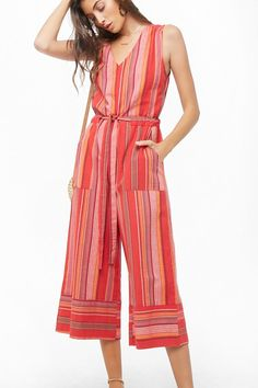 b6ec31dc38f Striped Wide Leg Sleeveless Jumpsuit. Women Casual Daytime Street Club  Daily Summer Day Outfit Ladies