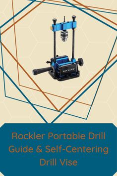 Two new accessories from Rockler can add portable precision to your drilling operations. Check them out here!  #createwithconfidence #portabledrillguide #selfcenteringdrillvise #rocklerinnovations Woodworking Hand Tools, Teds Woodworking, Woodworking Crafts, Small Drill Press, Jacobs Chuck, Precision Drilling, Drill Guide, Pen Blanks, Power To The People