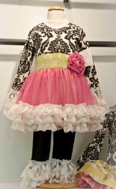 Giggle Moon Happy & Joyful Tutu Dress & Legging Set Preorder 3 Months to 8 Years - Children's Fall Clothing 2013