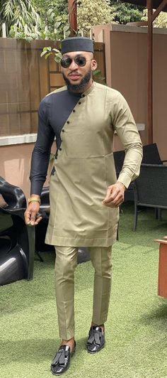 Discover recipes, home ideas, style inspiration and other ideas to try. African Wear Styles For Men, African Shirts For Men, African Dresses Men, African Attire For Men, African Clothing For Men, Latest Kurta Designs, Mens Kurta Designs, Nigerian Men Fashion, African Men Fashion