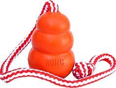 KONG Aqua, Kong Dog Toy Medium Floating Dog Toys, Dog Training Dog Toy with Rope #KONG
