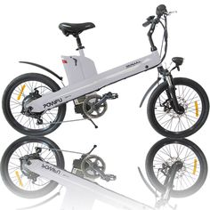 Inch White Electric E Bike Pedal Assist City Bicycle W W Motor Seagull