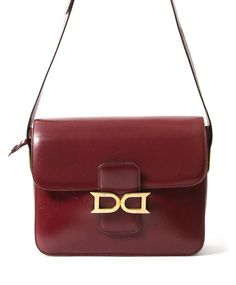 Delvaux Burgundy Shoulder Bag authentic secondhand bags safe online shopping webshop Belgium Antwerp LabelLOV fashion style bags high end labels luxury brands