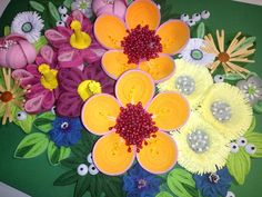 Quilling art 3D wall art picture Wildflowers by QuillingLife