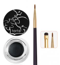 The best eyeliner ever! Amazonian clay waterproof liner  with double-ended brush from tarte cosmetics.