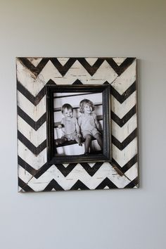 Chevron picture frame diy home decor on a budget
