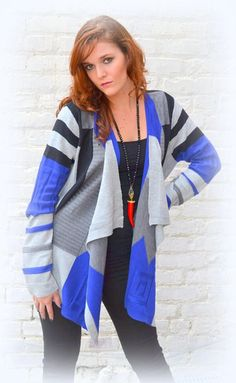 Royal Blue & Black Cardi #sophieandmollies #chapelhill #apex #cardigan #fall #2015 #blue #black #boutique