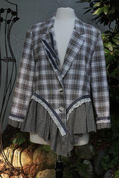PLaid Wonderland by irinale  re-do my plaid wool jacket bottom similar to this bottom