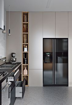 Modern Kitchen has never been so Fashionable! Since the beginning of the year many girls were looking for our Beautiful guide and it is finally got released. Now It Is Time To Take Action! Kitchen Room Design, Kitchen Cabinet Design, Modern Kitchen Design, Home Decor Kitchen, Interior Design Kitchen, Kitchen Furniture, Home Design, Home Kitchens, Interior Decorating