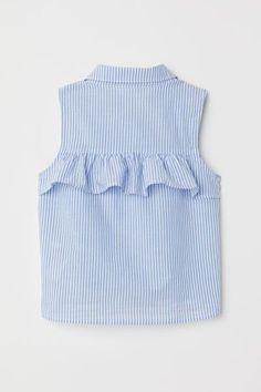 Blusa con nudo sin mangas - Azul claro/Rayas blancas - NIÑOS   H&M ES 2