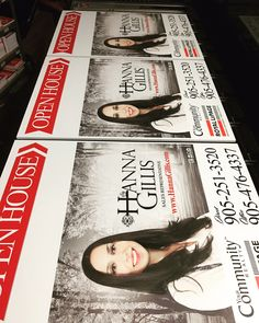 Open Houses Signs by Sweet Print Inc.  Ask us about all your real estate needs! www.sweetprint.ca