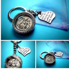 MOTHER of the BRIDE filled Living Memory Locket - choice chain - wedding favours