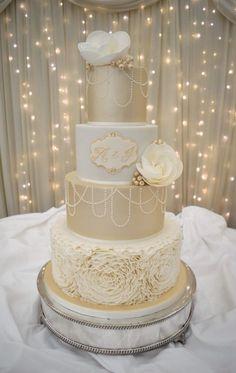 Image result for champagne wedding cake