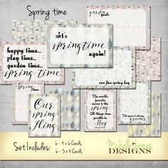 Project Life Inspired Spring Scrapbooking Kit by MichelleJamesDigital on Etsy