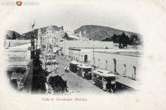 Imagen de la Villa de Guadalupe.  Esta avenida es hoy la Calzada de Guadalupe.