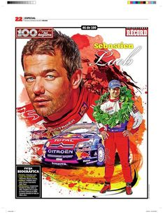 Sebastian Loeb 100 Leyendas del Deporte / 100 Sports Legends by Jesús R. Sánchez, via Behance