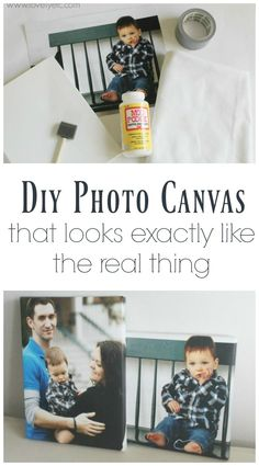 DIY photo canvases that look just like the real thing with real canvas texture and gallery wrapped edges. Make your own diy photo canvases for less than $10 in one hour.