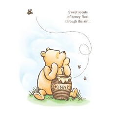 Winnie the Pooh Sweet Scents of Honey Stretched Canvas Print - Artissimo - Winnie the Pooh - Artwork at Entertainment Earth