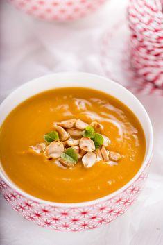 Zupa z batatów z masłem orzechowym