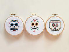 Mexican Skull - Stickerei-Kunst- von Lanas Crespo auf DaWanda.com