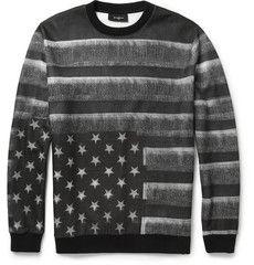 Givenchy Flag-Print Fleece-Back Jersey Sweatshirt | mensbestkeptsecrets.com #allthingsflyforguys