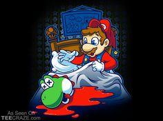 Mario Godfather T-Shirt  Source: http://teecraze.com/mario-godfather-t-shirt/