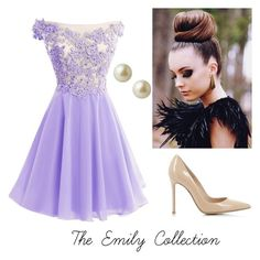 """Pretty in purple"" by maddy-adams on Polyvore featuring Gianvito Rossi, Carolee, women's clothing, women's fashion, women, female, woman, misses and juniors"