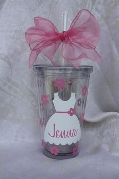 Flower Girl Tumbler. Personalized Flower Girl by TheVinylChick, $12.00