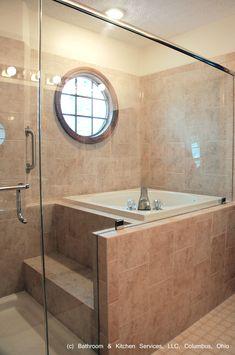 Japanese style shower and soaking tub.