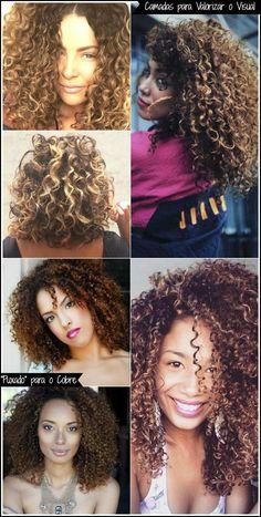 O que eu mais gosto das luzes e mechas é o destaque que elas dão ao cabelo. Os cachos sobressaem muito mais. O tom mel e dourado são os meus preferidos, mas você tem muitas outras opções. Umas das mais comuns é o avermelhado.