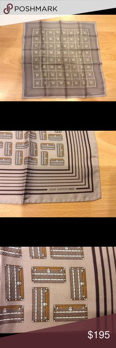 """Louis Vuitton Cruise Collection Scarf/Bandana Brand new silk scarf """"Mini Malles"""" in light purple from the Cruise 2001 collection. This item was a key piece of the cruise collection and incredibly sought after. This item can be worn as a bandana but large enough to use around neck and as a bag accessory. Incredible new, vintage LV item! Louis Vuitton Accessories Scarves & Wraps"""