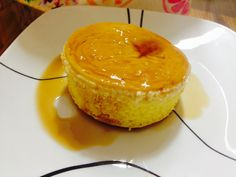 Caramel flan golden cake.  Happy birthday my dear mother. Aug 20, 2014.