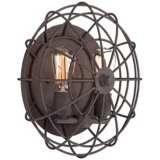 Larkin Industrial Rust Metal Cage Ceiling Light - #3X108 | LampsPlus.com