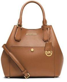 99c499ebed06 Greenwich Large Saffiano Leather Satchel | Michael Kors. Mk HandbagsFashion  ...