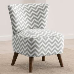 Emma Accent Chair. Love the material and color combination