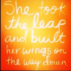 She took the leap & built her wings on the way down. #selfimprovement #believeinyourself #motivation