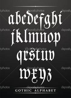 Alfabeto gótico - Ilustração de Stock: 18741189