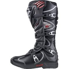 Fox Racing Comp 5 Men's Motocross Motorcycle Boots – Black / Size 10 Fox Racing Comp 5 Men's Motocross Motorcycle Boots - Black / Size 10 Fox Racing is a leading manufacturer of Sportswear and Off-Road gear Offering high quality t-shirts, tee, tanks and tops for men and women. While Fox Racing offers its complete line of motocross pants, Body Armor, gloves, boots, and Apparels through independent motorcycle accessory dealers worldwide, the company also offers a full line of sportswe..