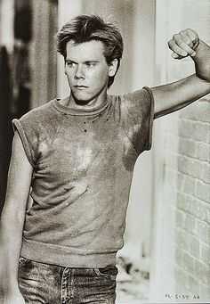 "Kevin Bacon en ""Footloose"", 1984"