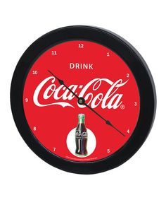 Look at this 'Drink Coca-Cola' Wall Clock on #zulily today!