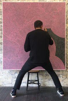 Otis Hope Carey Painted Boxes, Aboriginal Art, Abstract Art, Cool Stuff, Creative, Art Ideas, Mens Tops, Painting, Inspiration