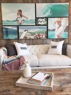 Step inside our beachside Billabong Bungalow in the heart of the sleepy town of Laguna Beach located inside the famed Pacific Edge hotel and overlooki… - My Home Decor Home Beach, Beach Room, Beach Cottage Style, Beach House Decor, Home Decor, Beach Apartment Decor, Interior Desing, Home Interior, Modern Interior