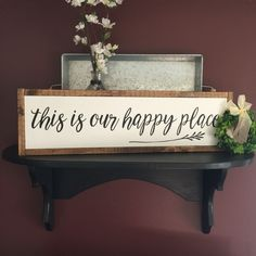 This is our happy place framed sign farmhouse by MyCraftShed