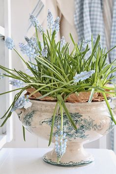 Love this blue/green color! VIBEKE DESIGN: Våren har flyttet inn....