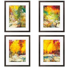 Gallery Direct Sylvia Angeli 'Mountain High I-IV' Giclee Framed Prints